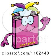 Cartoon Of A Waving Jester Joke Book Mascot Royalty Free Vector Clipart