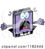 Cartoon Of A Scared Horror Vampire Book Mascot Royalty Free Vector Clipart