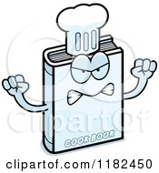 Cartoon Of A Mad Cook Book Mascot Royalty Free Vector Clipart
