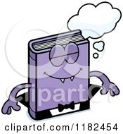 Cartoon Of A Bored Horror Vampire Book Mascot Royalty Free Vector Clipart