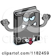 Cartoon Of A Mad Business Book Mascot Royalty Free Vector Clipart