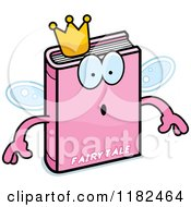 Cartoon Of A Surprised Pink Fairy Tale Book Mascot Royalty Free Vector Clipart
