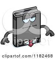 Cartoon Of A Bored Business Book Mascot Royalty Free Vector Clipart
