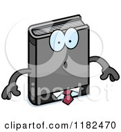 Cartoon Of A Surprised Business Book Mascot Royalty Free Vector Clipart