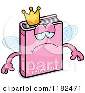Cartoon Of A Depressed Pink Fairy Tale Book Mascot Royalty Free Vector Clipart