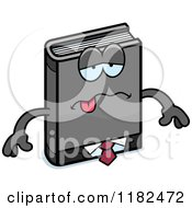 Cartoon Of A Sick Business Book Mascot Royalty Free Vector Clipart