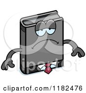 Cartoon Of A Depressed Business Book Mascot Royalty Free Vector Clipart