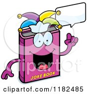 Cartoon Of A Talking Jester Joke Book Mascot Royalty Free Vector Clipart