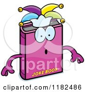 Cartoon Of A Surprised Jester Joke Book Mascot Royalty Free Vector Clipart