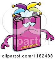 Cartoon Of A Depressed Jester Joke Book Mascot Royalty Free Vector Clipart