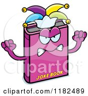 Cartoon Of A Mad Jester Joke Book Mascot Royalty Free Vector Clipart