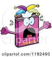 Cartoon Of A Scared Jester Joke Book Mascot Royalty Free Vector Clipart
