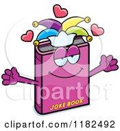 Cartoon Of A Loving Jester Joke Book Mascot Royalty Free Vector Clipart