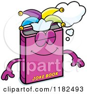 Cartoon Of A Dreaming Jester Joke Book Mascot Royalty Free Vector Clipart