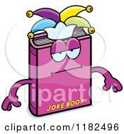 Cartoon Of A Bored Jester Joke Book Mascot Royalty Free Vector Clipart