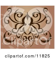 Brown Tatoo Design Clipart Illustration by AtStockIllustration