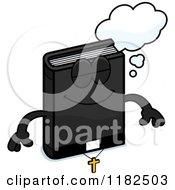 Cartoon Of A Dreaming Bible Mascot Royalty Free Vector Clipart