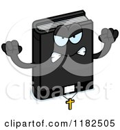 Cartoon Of A Mad Bible Mascot Royalty Free Vector Clipart