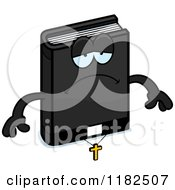 Cartoon Of A Depressed Bible Mascot Royalty Free Vector Clipart