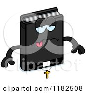 Cartoon Of A Sick Bible Mascot Royalty Free Vector Clipart