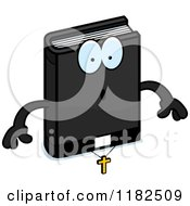 Cartoon Of A Surprised Bible Mascot Royalty Free Vector Clipart