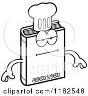 Black And White Bored Cook Book Mascot