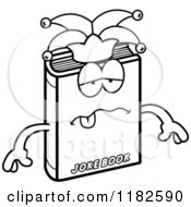 Black And White Sick Jester Joke Book Mascot Royalty Free Vector Clipart