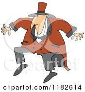 Cartoon Of A Sneaky Circus Ring Master Man Royalty Free Vector Clipart