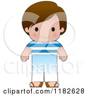 Cartoon Of A Happy Patriotic Boy Wearing Greek Flag Clothing Royalty Free Vector Clipart by Maria Bell