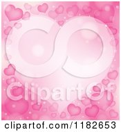 Cartoon Of A Frame Made Of Pink Hearts And Flares Royalty Free Vector Clipart by visekart