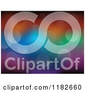 Cartoon Of A Colorful Background Of Flares Royalty Free Vector Clipart