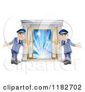 Friendly Door Men Holding Open Vip Doors To Lights