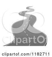 Clipart Of A Curvy Road Way Royalty Free Vector Illustration by vectorace #COLLC1182711-0166
