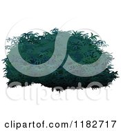 Clipart Of A Lush Green Shrub Royalty Free Vector Illustration by dero
