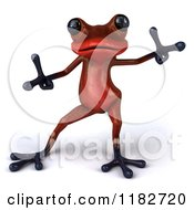 3d Red Springer Frog Dancing 2