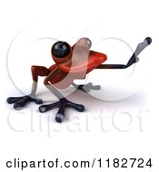 3d Red Springer Frog Reaching 2