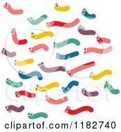 Cartoon Of A Group Of Colorful Worms Royalty Free Vector Clipart by Prawny