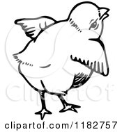 Clipart Of A Black And White Chick 4 Royalty Free Vector Illustration by Prawny