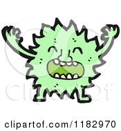 Cartoon Of A Furry Monster Royalty Free Vector Illustration