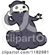 Cartoon Of A Monster With A Skull Head Royalty Free Vector Illustration