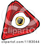 Cartoon Of An All Seeing Mystic Eye Royalty Free Vector Illustration