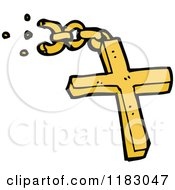 Cartoon Of A Christian Cross Royalty Free Vector Illustration by lineartestpilot