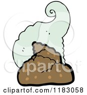 Cartoon Of A Pile Of Stinking Pile Of Poop Royalty Free Vector Illustration