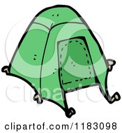 Cartoon Of A Tent Royalty Free Vector Illustration by lineartestpilot