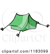 Cartoon Of A Tent Royalty Free Vector Illustration