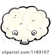 Cartoon Of A Windy Cloud Blowing Royalty Free Vector Illustration