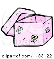 Cartoon Of A Flowered Box Royalty Free Vector Illustration