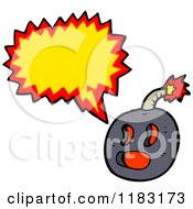 Cartoon Of A Cannonball Speaking Royalty Free Vector Illustration by lineartestpilot