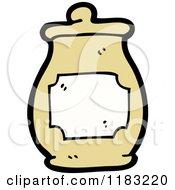 Cartoon Of A Honey Jar Royalty Free Vector Illustration