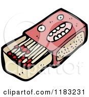 Cartoon Of A Matchbox With A Face Royalty Free Vector Illustration